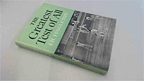 ব্রিসবেনের `টাই` টেস্ট নিয়ে লেখা জ্যাক ফিঙ্গলটনের বই
